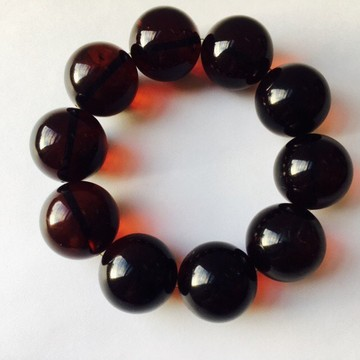 Bloody Red Cherry Baltic Amber Bracelet 60.40 grams