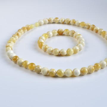 Milky White Baltic Amber...