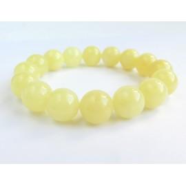 Milky White Baltic Amber Bracelet 19.47 grams