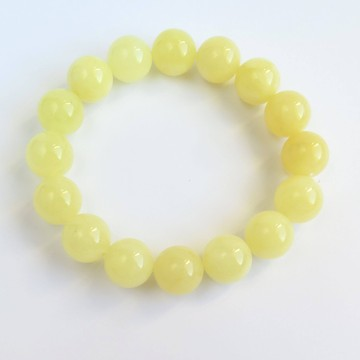 Milky White Baltic Amber Bracelet 19.47 grams