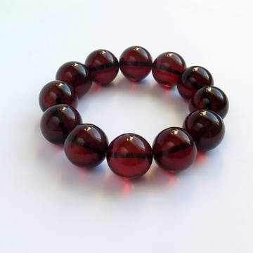 Red Cherry Baltic Amber Bracelet 38.63 grams