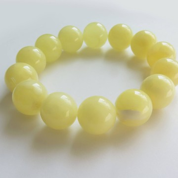 Milky White Baltic Amber Bracelet 31.60 grams