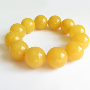 Butterscotch Baltic Amber Bracelet 18mm weight 42.60 grams