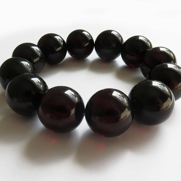 Red Cherry Baltic Amber Bracelet size of beads 20.50 mm