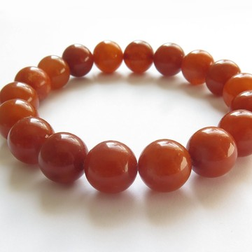 Antique Baltic Amber Bracelet round beads 12mm 16.91 grams