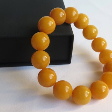 Vintage 14mm round beads Butterscotch Baltic Amber Bracelet