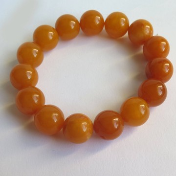 Genuine Antique Baltic Amber Bracelet beads 15mm