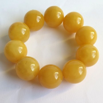 Butterscotch honey Baltic Amber Bracelet round beads 22mm