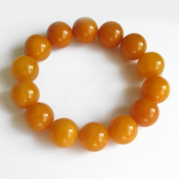 Antique Baltic Amber Bracelet beads size 16mm weight 31.65 grams