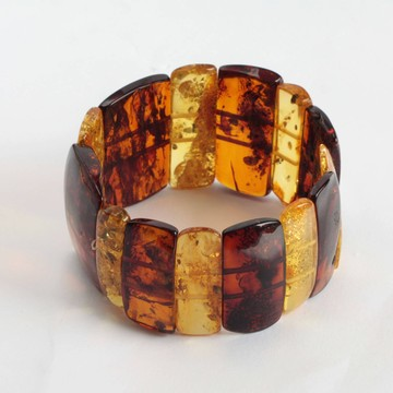 Cognac / Yellow Baltic Amber Bracelet 41.50 grams