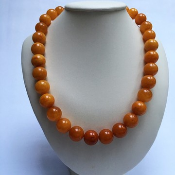 Antique Baltic Amber Necklace 66.23 grams