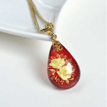 Red Ruby Amber Pendant,...