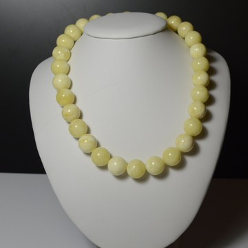 Milky White Baltic Amber Necklace 65.80 grams