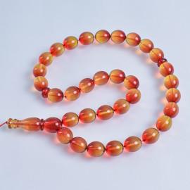 Natural Amber Beads Islamic  Prayer Beads 33 Orange Amber Beads 52 g