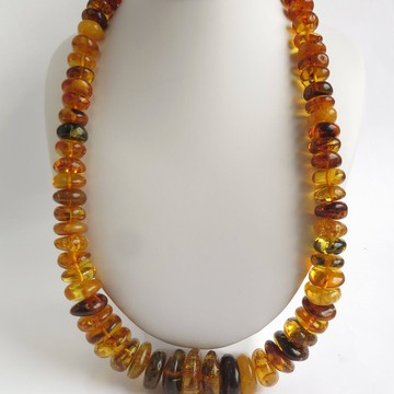 Antique Baltic Amber Necklace 143 grams