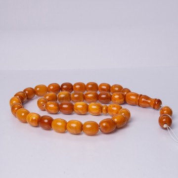 Old Baltic Amber Beads Oval...