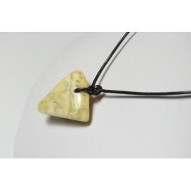 Milky White / Egg Yolk Baltic Amber Pendant 6.50 grams
