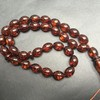 Baltic Amber Olive Beads - Misbaha Prayer - 21.35 grams Red Cognac color