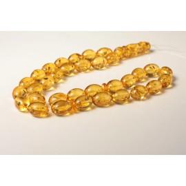 Misbaha Prayer - Baltic Amber Beads 74.8 grams olive beads light tea