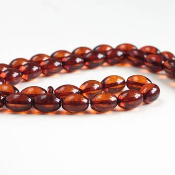 Misbaha Islam Rosary of Genuine Baltic Amber Cognac Color Beads 29.79 g