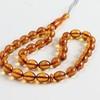 Misbaha Islam Rosary of Genuine Baltic Amber Cognac Color Beads 29.67 g Handmade