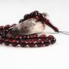 Baltic Amber Moslem Prayer Beads Olives Shape Red Cherry Color Chaplet 15.39 grams