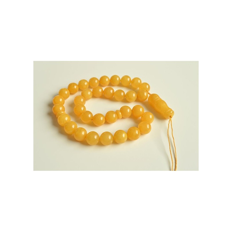Misbaha Islam Rosary of Genuine Baltic Amber butterscotch Color Beads Handmade