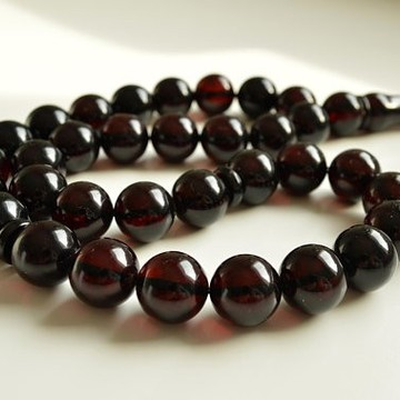 Red Cherry color Baltic Amber Islamic Prayer Beads 74.4 grams 15 mm rosary Muslim Rosary