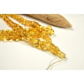 Tasbih Rosary of Baltic Amber Massive 10 mm Beads 54 g Yellow Amber Islamic Misbaha