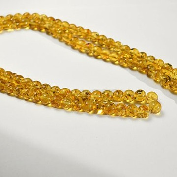 Tasbih Rosary of Baltic Amber Massive 10 mm Beads 54 g Yellow Amber Islamic Misbaha
