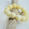 Pure Baltic Amber Bracelet 16 mm 29.4 g milky white color round beads handmade perfect gift