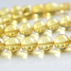Natural Baltic Amber 33 Beads Misbaha Prayer, Light Lemon Baltic Amber Tespih