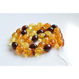 Baltic Amber Tespih, Natural Amber Misbaha Prayer, Butterscotch Egg Yolk Color Misbaha