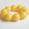 Butterscotch Amber Bracelet with 24 mm Amber Beads, Natural Baltic Amber Bracelet,