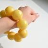 Butterscotch Amber Bracelet with 29 mm Amber Beads, Natural Baltic Amber Bracelet
