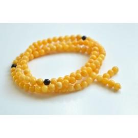 Mila Mala Rosary 6 mm Egg Yolk Butterscotch Buddhist Prayer Beads Baltic Amber