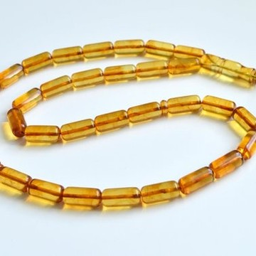 Misbaha Islam Rosary of Genuine Baltic Amber Cognac Color Beads 37.5 g Handmade