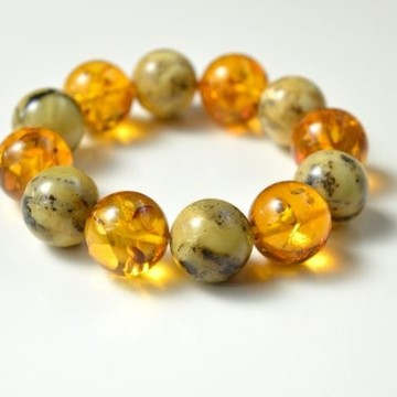 Natural Amber Bracelet, Multicolored Baltic Amber Bracelet, Summer Bracelet, Bernstein Armband, Stretch Bracelet