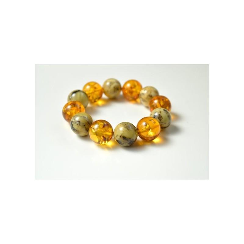 Natural Amber Bracelet, Multicolored Baltic Amber Bracelet, Summer Bracelet, Bernstein Armband, Stretch Bracelet