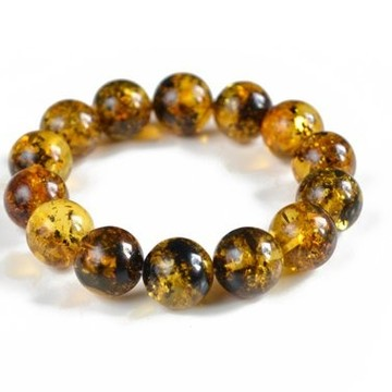 Green Black Baltic Amber Bracelet, Genuine Polished Amber Bangle, Delicate Multicolred Bracelet, Bernstein Armband