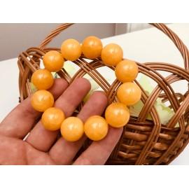 Vintage Butterscotch Amber Bracelet, Egg Yolk Amber Bracelet, Amber Beaded Bracelet