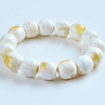 Pure Baltic Amber Bracelet 20 grams Milky White Color Bangle Bracelet handmade perfect gift
