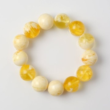 Butterscotch Amber Bracelet with 16 mm Amber Beads