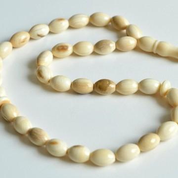 Prehistoric Mammoth Bone Misbaha Rosary, Islamic Prayer Beads 10.5 g
