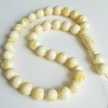 Ivory White Color Baltic Amber Islamic Prayer Beads 33 Worry Beads 82 g 16 mm