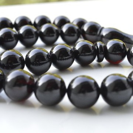 Cherry Baltic Amber Misbaha Prayer Tassel, Tespih Beads 100 grams 17 mm