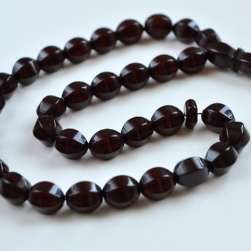 Cherry Baltic Amber Olive Beads - Misbaha Prayer - 17 grams Red Cherry color