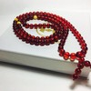 Red Amber 108 Prayer Beads Rosary 9mm round beads Bracelet Mila Mālā Baltic Amber 42 g