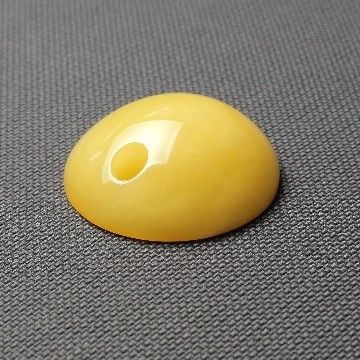 Baltic Amber Donut Pendant 25 grams milky color handmade Light Butterscotch Natural Amber Necklace