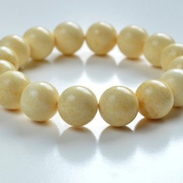 Butterscotch Amber Bracelet with 13.5 mm Amber Beads, Natural Baltic Amber Bracelet 20 grams